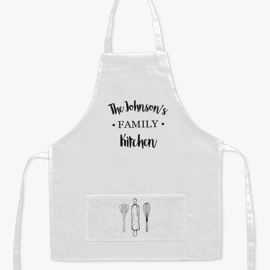 Personalized Name Family Kitchen Kids Apron.