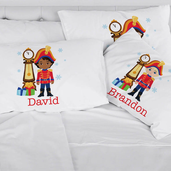 Personalized Nutcracker Christmas Kids Sleeping Pillowcase.