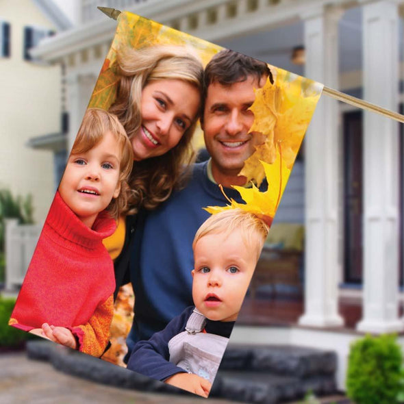 Personalized Photo House Flag.
