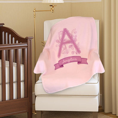 Personalized Name Baby Blanket.