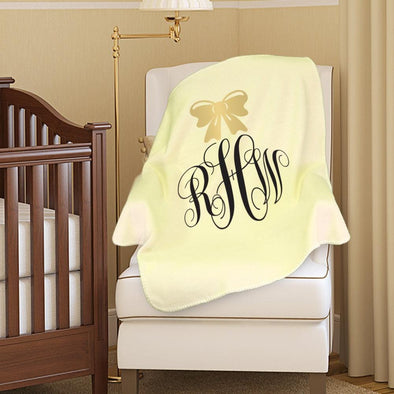 Personalized Monogram Baby Blanket