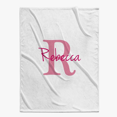 Personalized Baby Blanket | Custom Name & Initial.