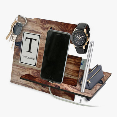 Exclusive Sale - Personalized Wooden Design Desk Organizer.