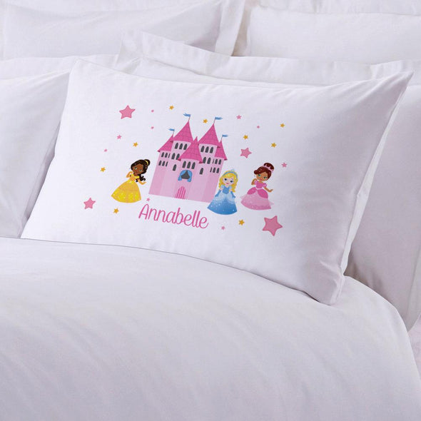 Personalized Princess Castle Sleeping Pillowcase | Custom Pillow for Kids.