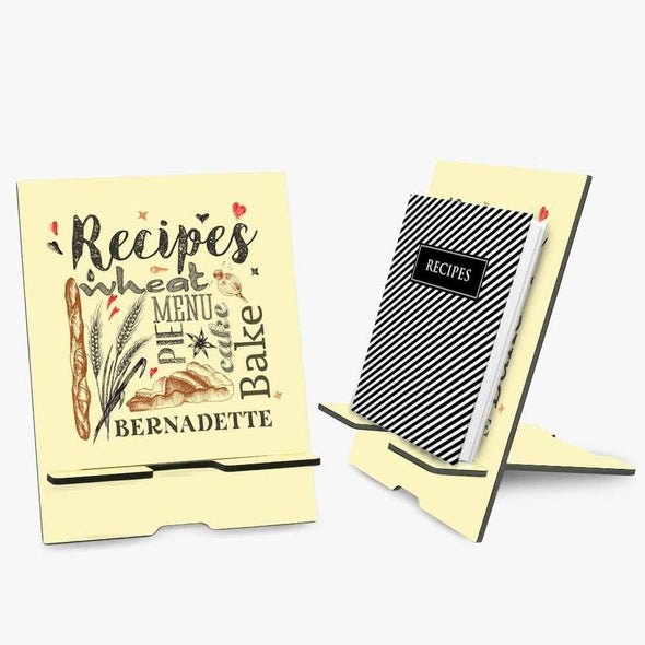 Personalized Recipe Book, Tablet or iPad Stand.