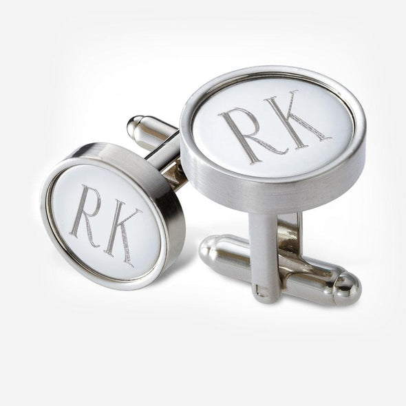 Personalized Metal Cufflinks in Black Gift Box.