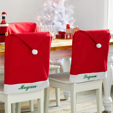 Exclusive Sale - Personalized Santa Hat Chair Cover