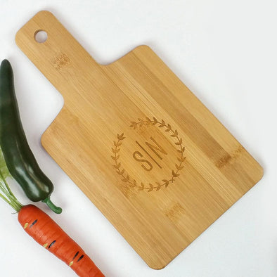 Personalized Wreath Serving Board