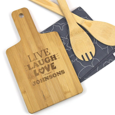 Custom Live Laugh Love Serving Board