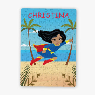 Personalized Superhero Character Kids Puzzle / 80 Pieces.