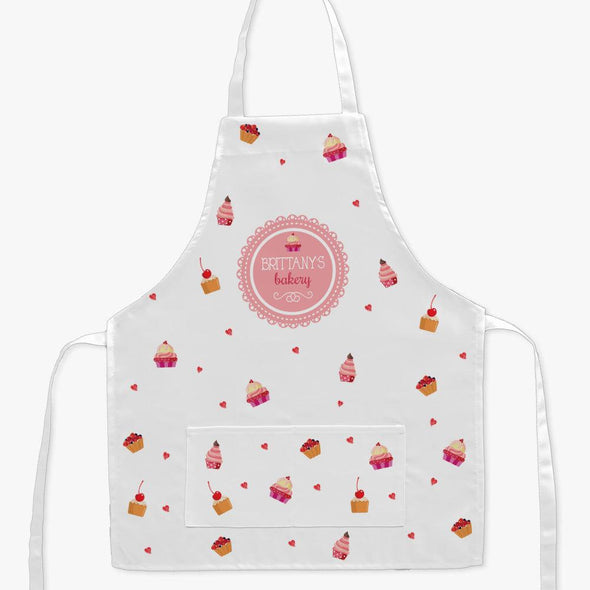Personalized Sweets Bakery Kids Craft Apron.