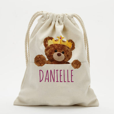 Personalized Teddy Bear Drawstring Sack.