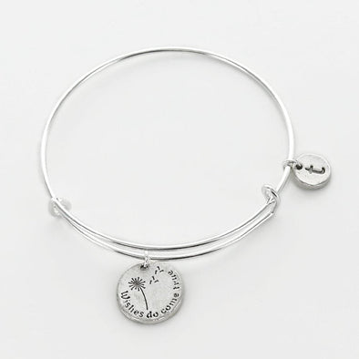 Personalized Wishes Do Come True Charm Bangle.