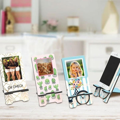 personalized photo cell phone stand