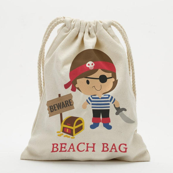 Pirate Personalized Character Drawstring Sack.