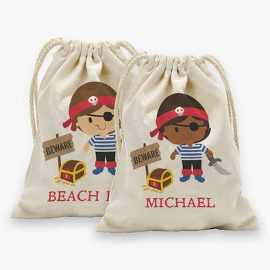 Pirate Personalized Character Drawstring Sack