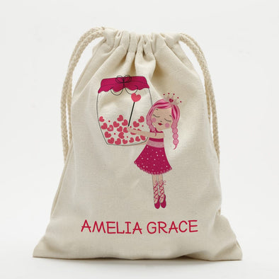Princess Ballerina Custom Drawstring Sack.