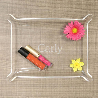 Personalized Laser Engraved Acrylic Catchall Tray.