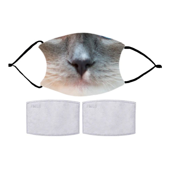 FUN CAT DESIGN MASKS WITH OPTIONAL FILTERS
