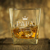Personalized Dad Crown Whiskey Glass