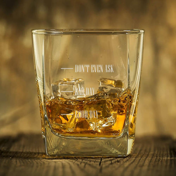 Don't Even Ask Personalized Whiskey Glass