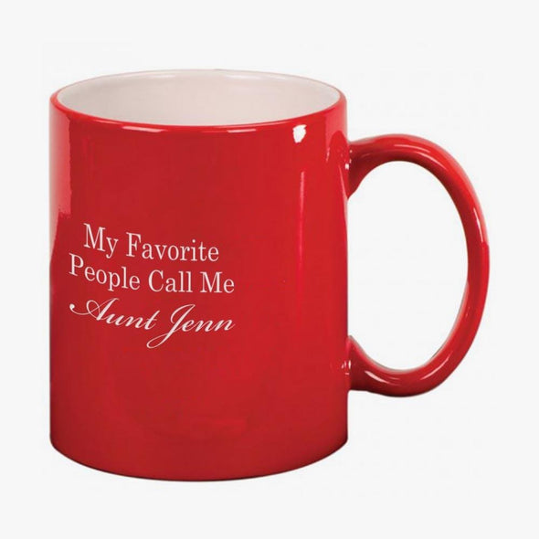 Favorite People Custom Coffee Ceramic Mug