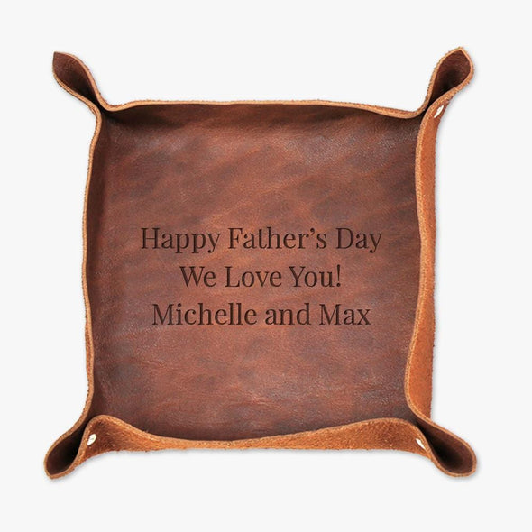 Father's Day Personalized Genuine Leather Stash Tray.