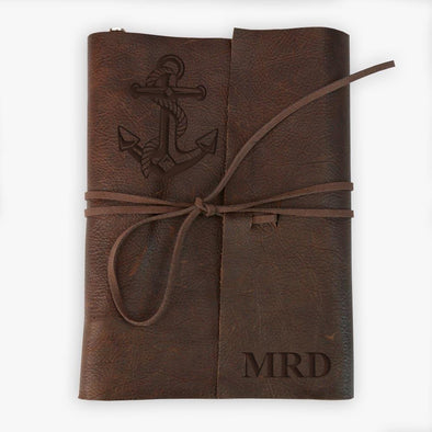 Custom Genuine Leather Binding 3-Ring Writing Journal - Large