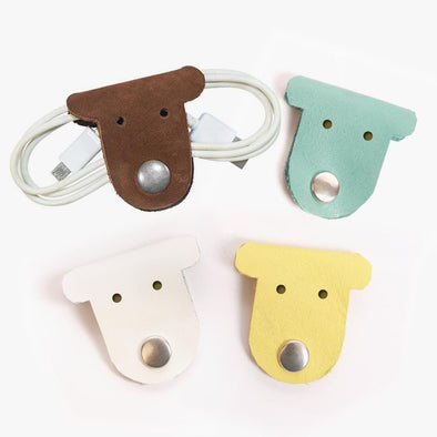 Flash Sale - Custom Initial Kids Leather Puppy Cord Holder.