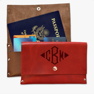 Monogram Genuine Leather Passport Cover Wallet.
