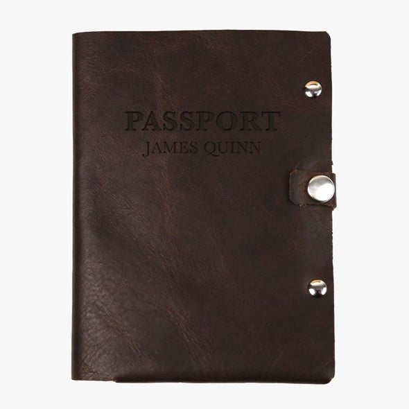Personalized Authentic Leather Passport Holder