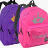 Kids Princess Crown Personalized School Backpack | Custom Bookbag