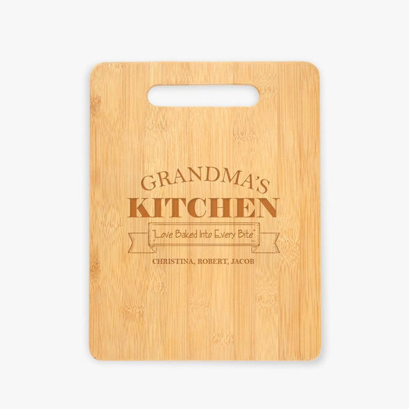 Grandma's Kitchen Personalized Cutting Board.
