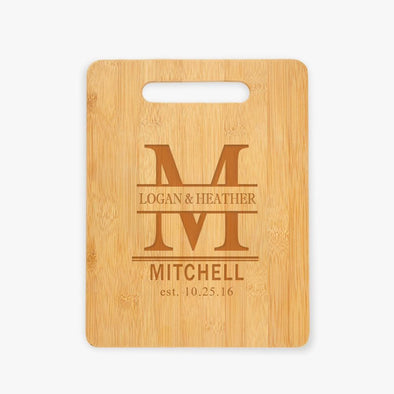 Couples Personalized Wooden Cutting Board