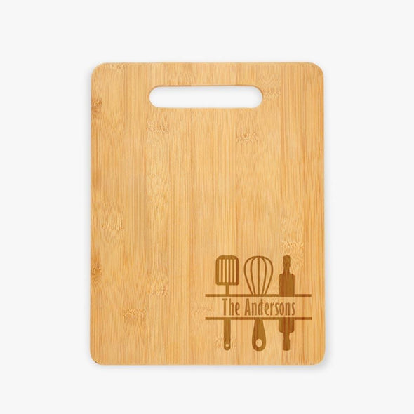Family Custom Wooden Cutting Board.