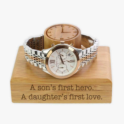 Personalized Wood Bracelet Watch Holder | Custom with name.