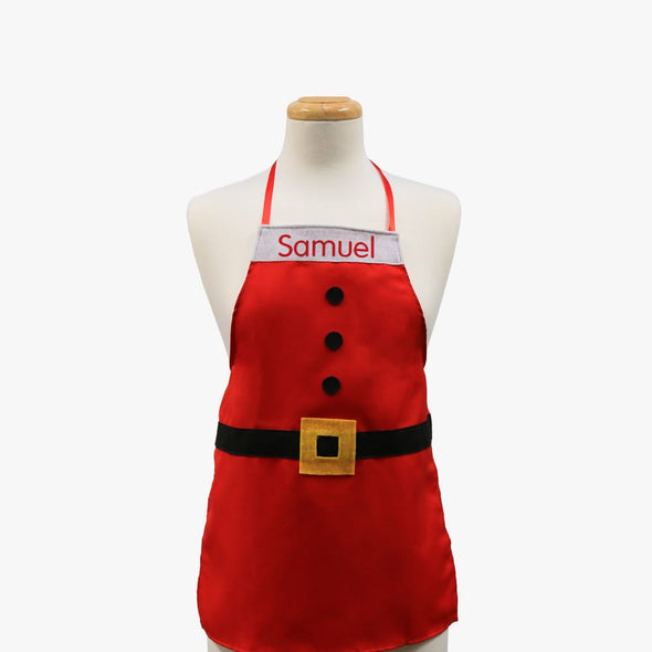 Santa Suit Personalized Christmas Kids Apron.
