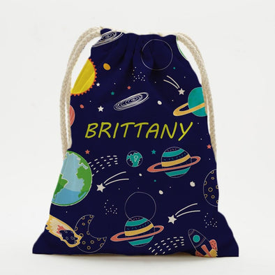 Custom Galaxy Kids Drawstring Sack.