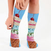 Ice Cream Personalized Tube Socks.