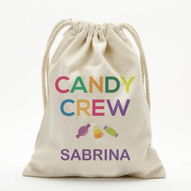 Candy Crew Custom Halloween Drawstring Sack for Kids