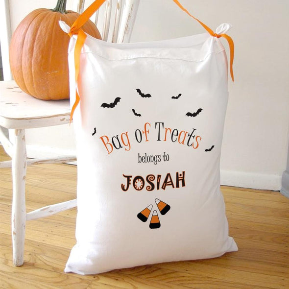 Candy Personalized Halloween Pillowcase Bag of Tricks