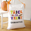 Personalized Treats Halloween Pillowcase Bag of Tricks.