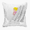 Kids Ballerina Personalized Flip Sequin Decorative Throw Pillowcase
