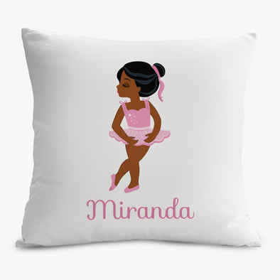 Ballerina Personalized Decorative Pillowcase.