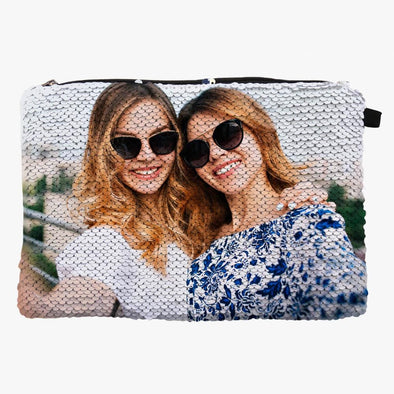 Exclusive Sale | Photo Sequin Makeup Bag.
