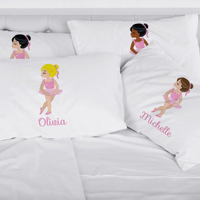 Ballerina Personalized Kids Sleeping Pillowcase
