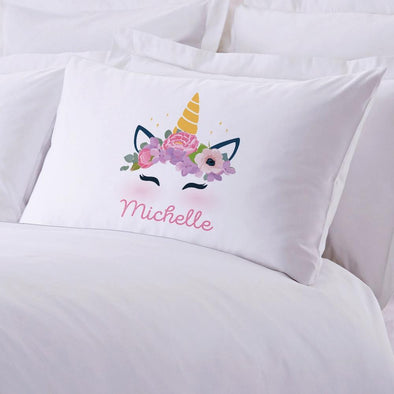 Unicorn Personalized Kids Sleeping Pillowcase | Custom Pillow For Kids.