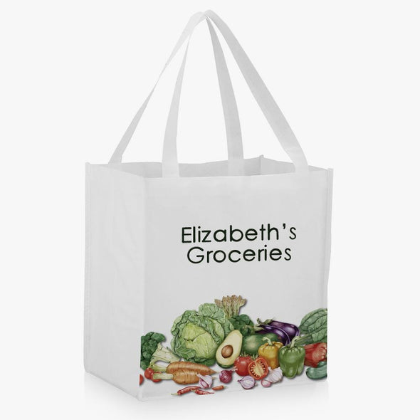 Personalized Groceries Market Tote.