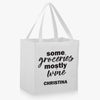 Some Groceries Mostly Wine Custom Market Tote