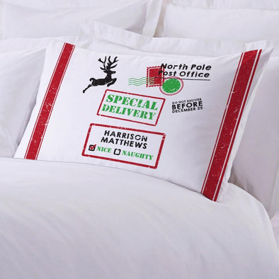 North Pole Christmas Kids Sleeping Pillowcase.